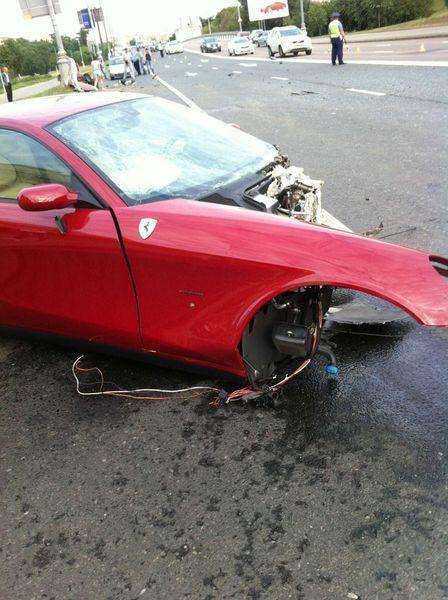 В Москве разбили Ferrari 612 Scaglietti (5 фото+2 видео)