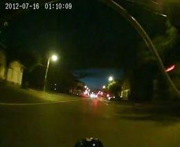 Ночной байкер попал в аварию