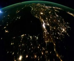 Наша планета ночью