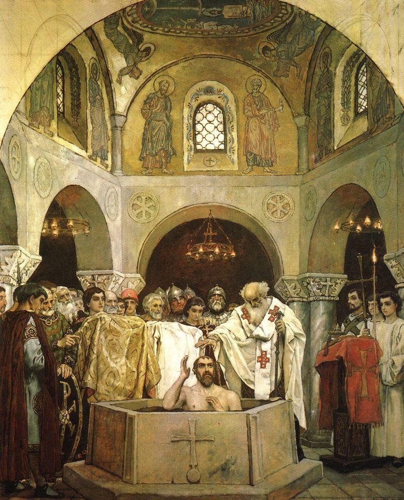 потолок крещение в древней руси фото запрещает вносить современный