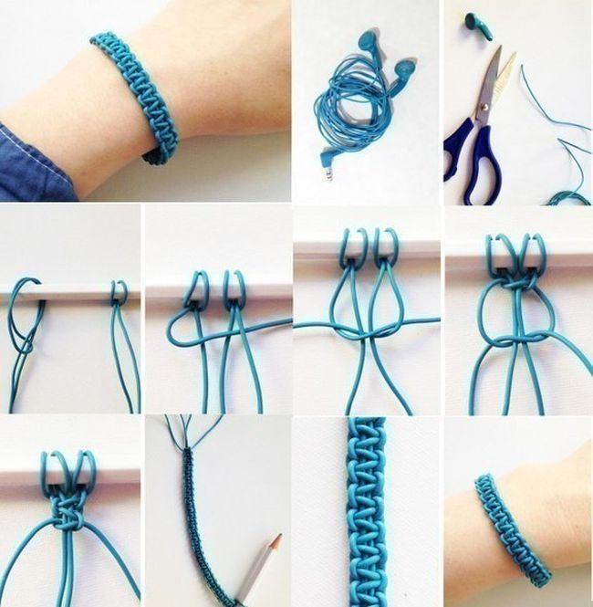 Отпадные фотки браслет, наушники, своими руками, фенечка