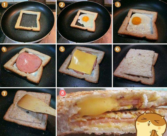 Фотоальбом бутерброд, вкуснятина, жарит, приготовление
