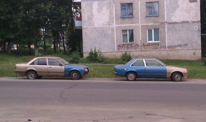 Фотка авто, прикол, старое, цвет