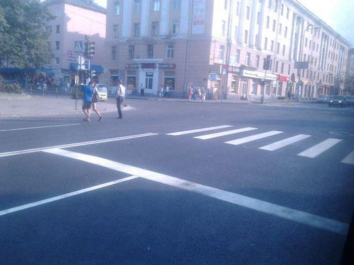 Фото зебра, пешеходный переход, угадай страну