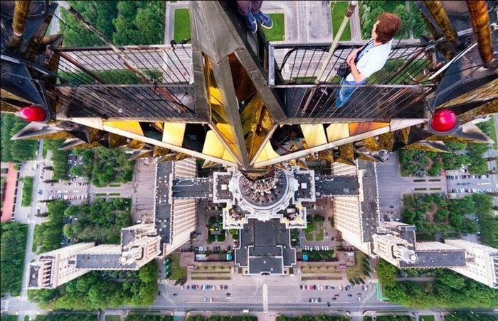 Смешные рисунки вид на город, высота, крутая фотка