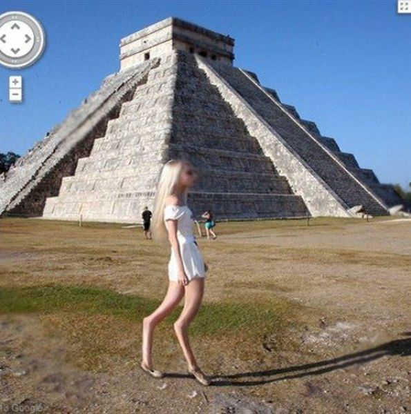 Фотоприкол онлайн девушка, майя, ноги, пирамида