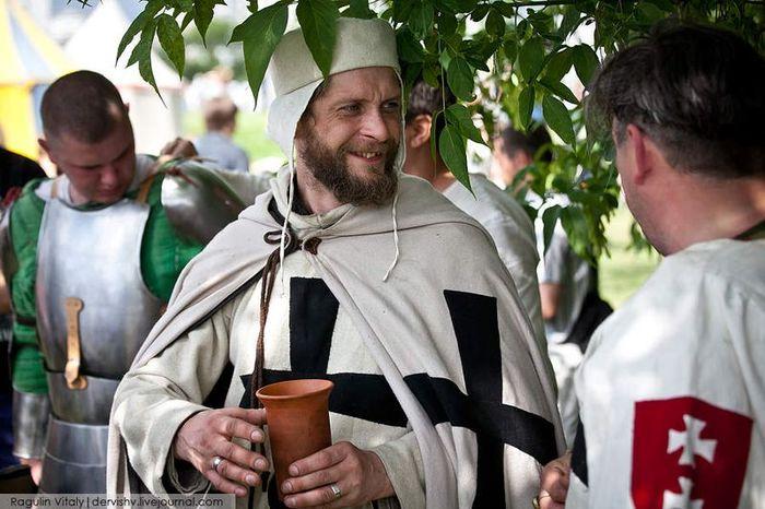 крестоносцы, сражение, бой, рыцарь