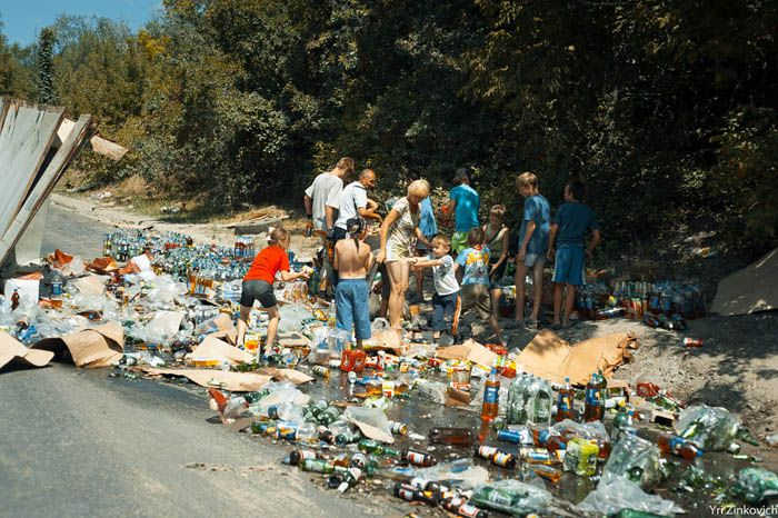 дтп, авария, авто, пиво на дороге,