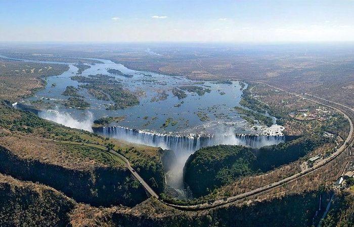 водопад, бассейн, вода, фантастика