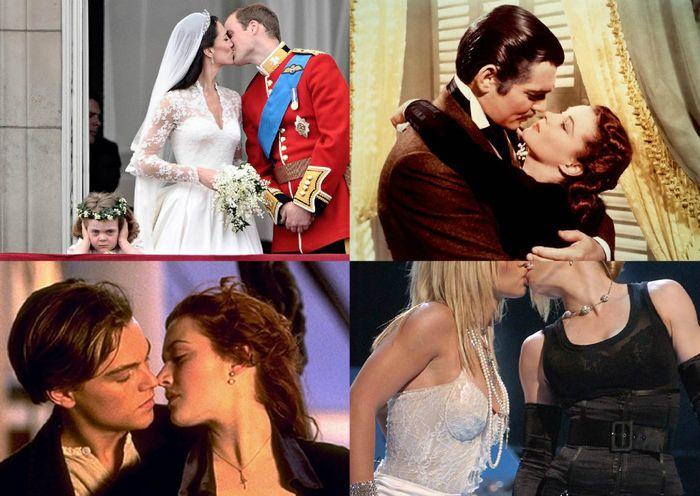 кино, знаменитости, звёзды, поцелуй