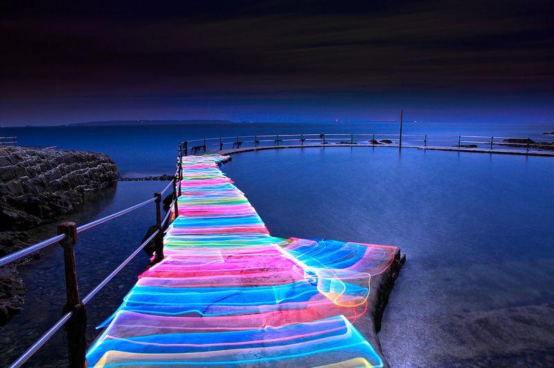 Фото красота природы, лагуна, море, мост, пирс