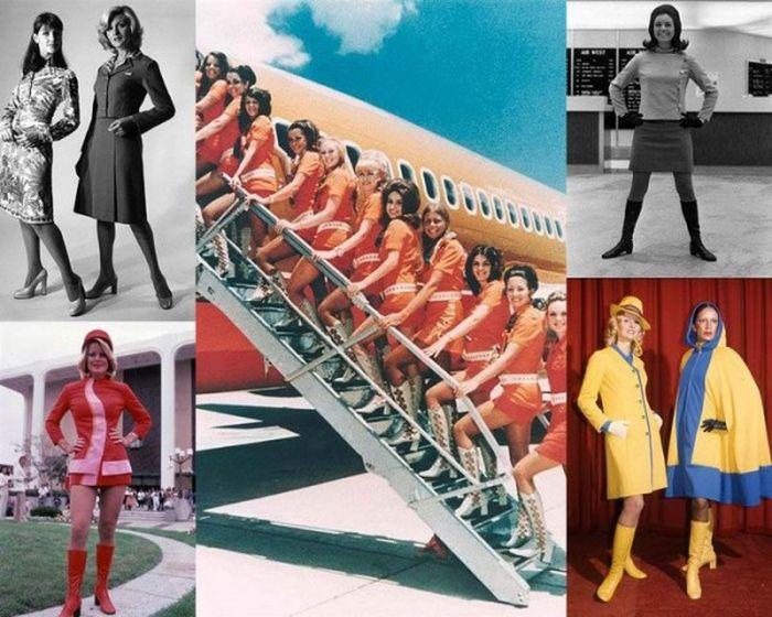 стюардесса, униформа, самолет