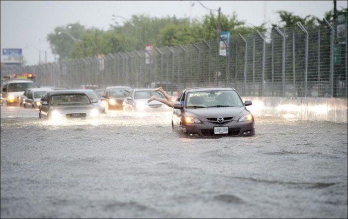 авто, наводнение, торонто, канада