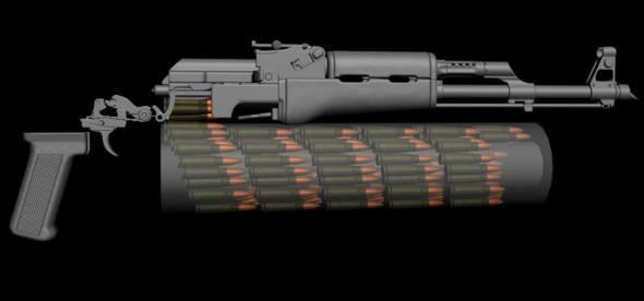 калашников, оружие, пистолет