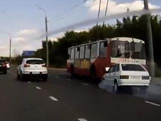 Прилетел в автобус