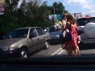 Авария из-за девочек