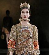 Модный дом Dolce&Gabbana выпустил новую коллекцию в византийском стиле