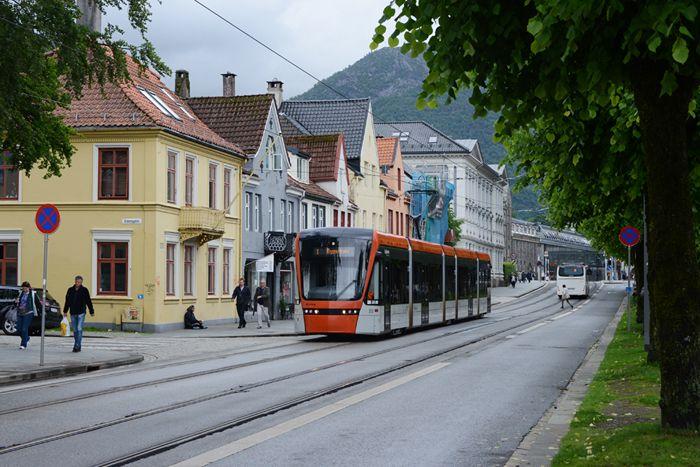 авто, трамваи, трамвай, норвегия, берген