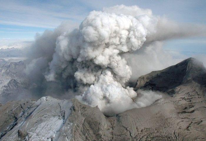 вулкан, пепел, аляска, извержение