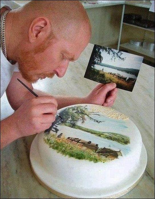Прикольные фото пирог, своими руками, торт, художник