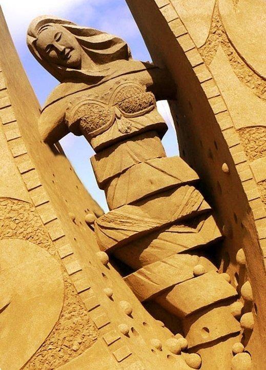 Esculturas de arena de Joo Heng Tan 1