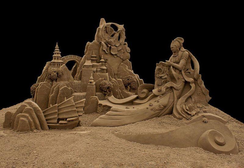 Esculturas de arena de Joo Heng Tan 12