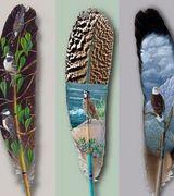 Удивительное искусство рисования на птичьих перьях.