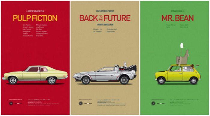 авто, постеры, кинематограф, машины из фильмов,
