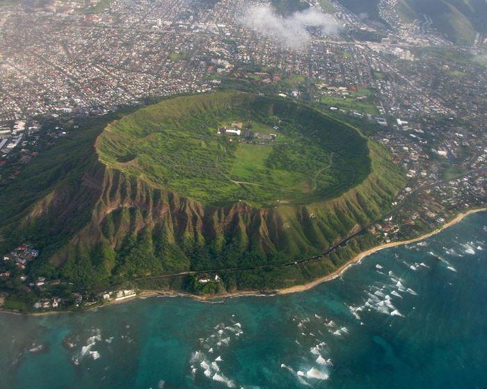 гавайи, кратер, воронка