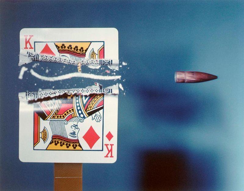 Фотография карта, король, полет, пуля