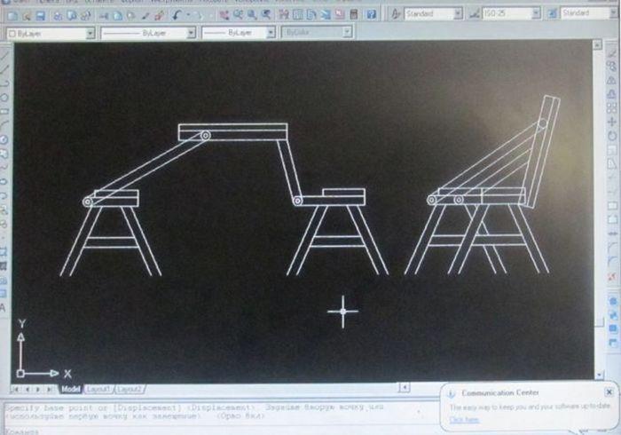 скамейка, своими руками