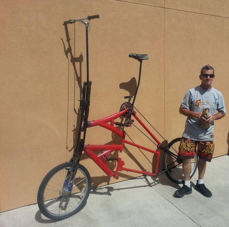 Красивые фото большой, велосипед, мужик, необычный