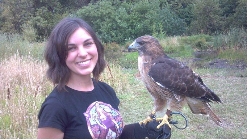 Фото выражение лица, девушка, орел, птица
