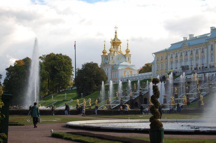 петергоф, фонтан,