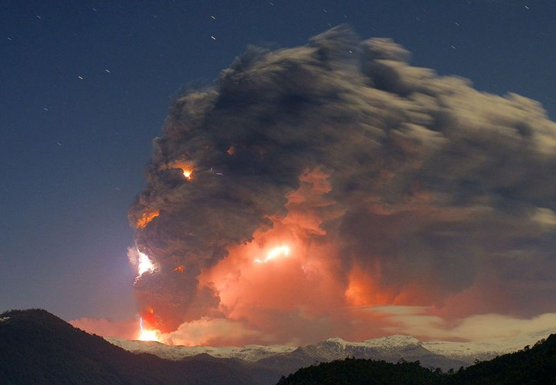 Шикарное фото взрыв, облако, природа, туча