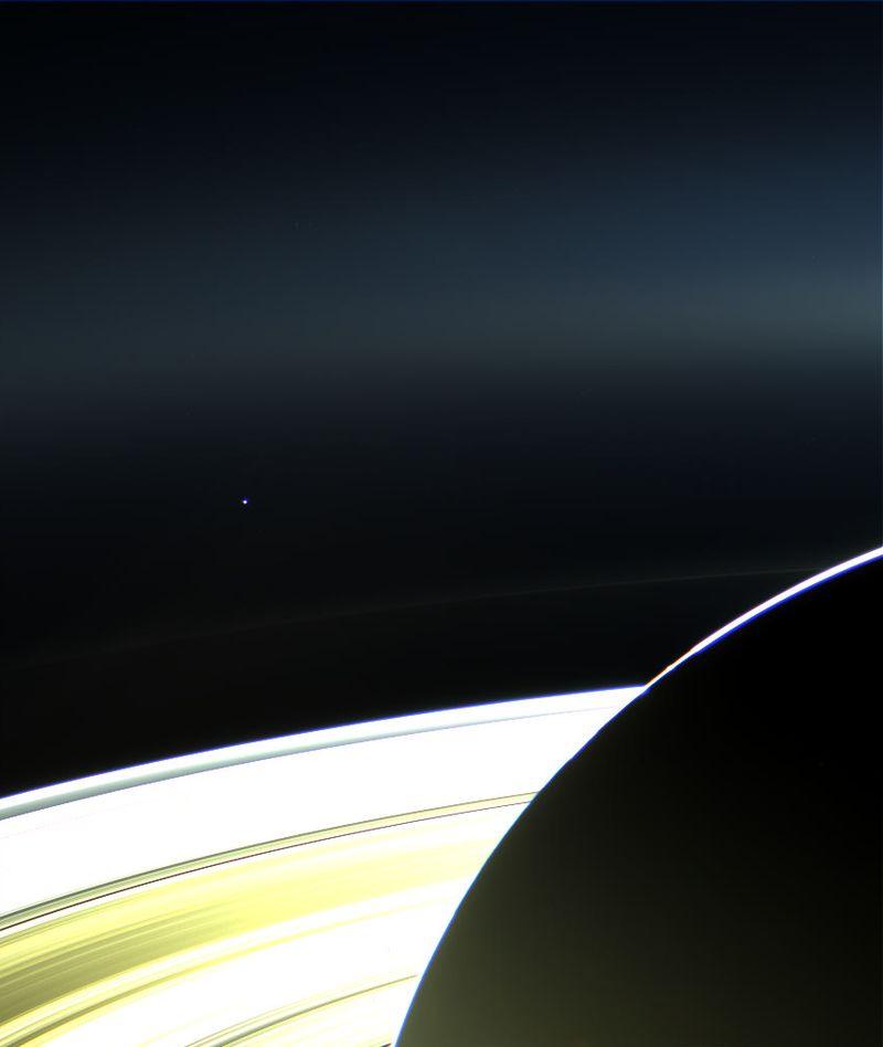 земля, сатурн, луна, космос