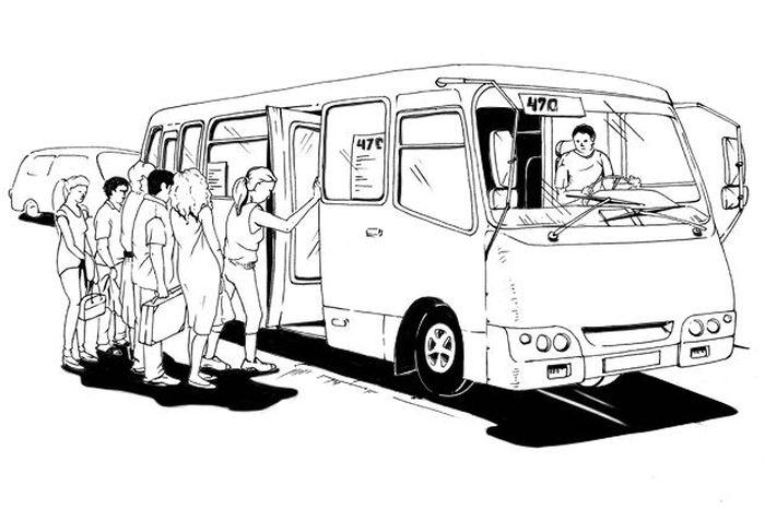 авто, маршрутка, водитель маршрутки