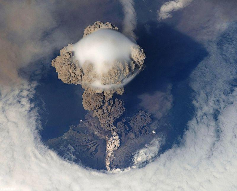 вулкан, извержение, лава, космос