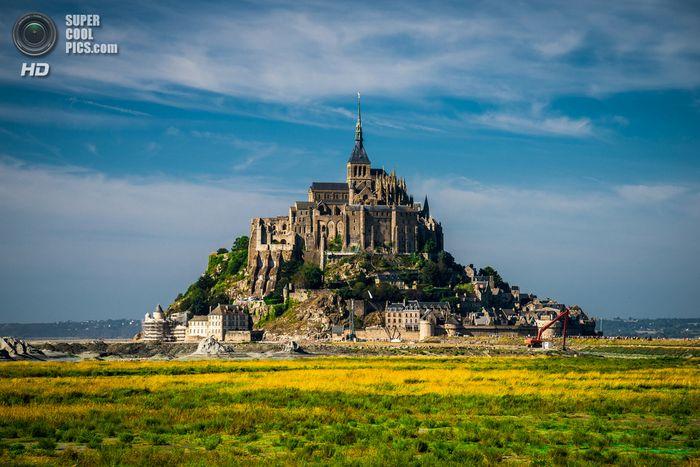остров, франция, крепость, мон-сен-мишель