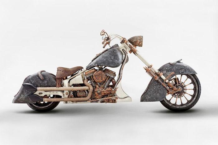 авто, мотоцикл, золотой мотоцикл