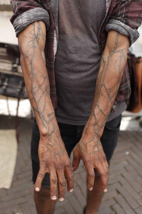 Отпадные фотки вены, на руках, татуировки