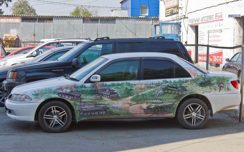 Юмор картинка, на авто, рисунок, танки