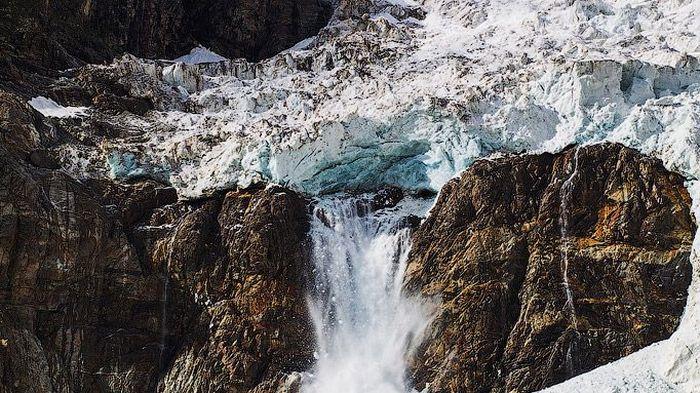 ледник, горы, каскад