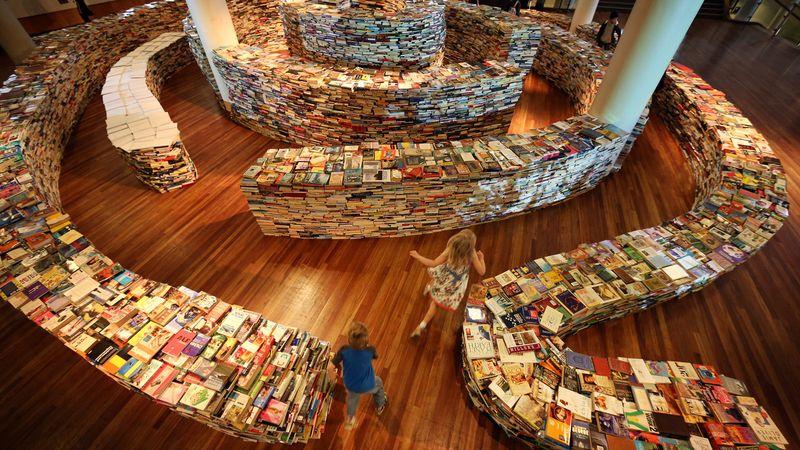 Фотоприкол недели библиотека, книги, лабиринт