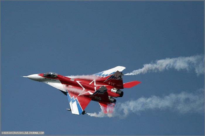 Aviones rusos en exhibición