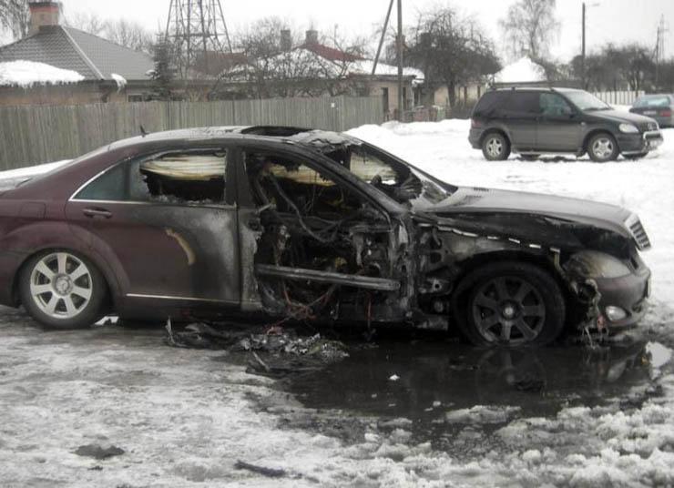 Burned Mercedes
