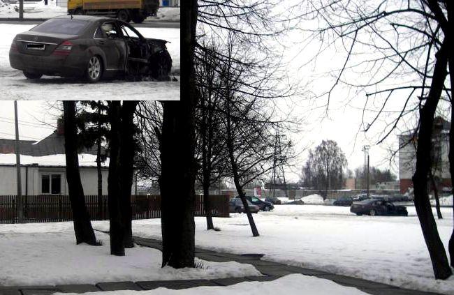 Сгоревший Мерседес-Бенц S-класс (5 фото)