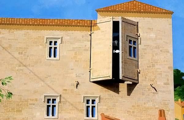 3D рисунки на домах (50 фото)