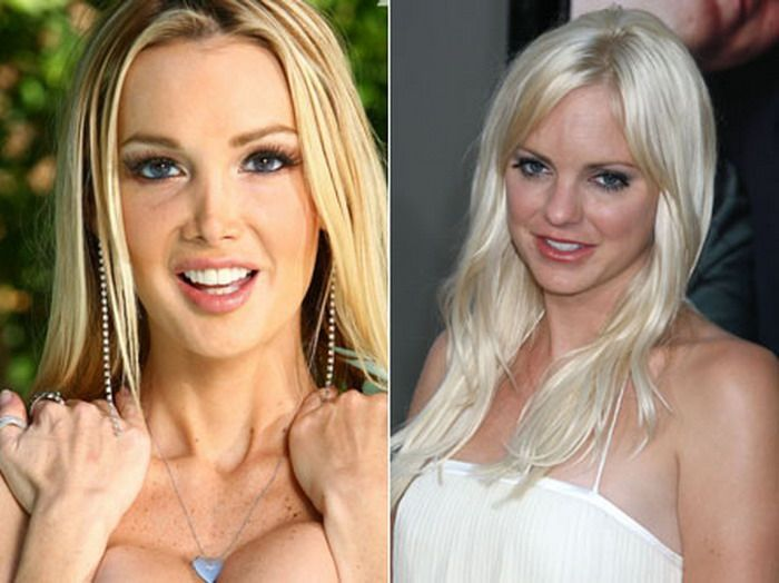 порно звезды похожие на знаменитостей