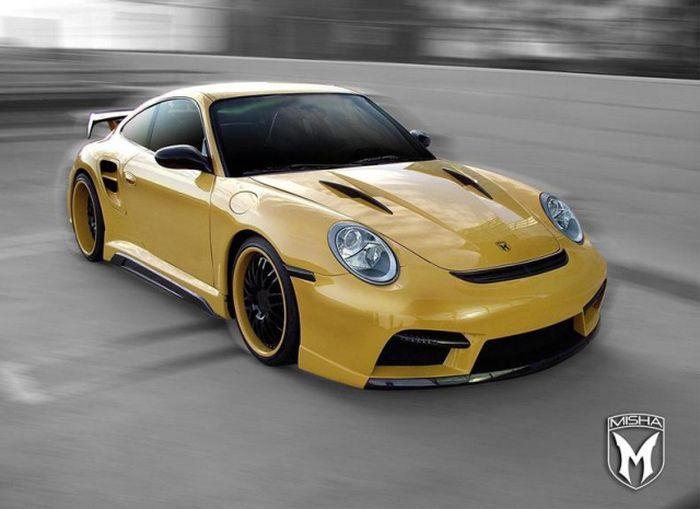 Misha Design смастерили обвес для Porsche 911 Turbo (4 фото)